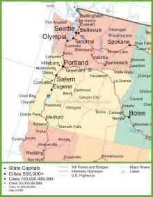 map of oregon and washington state map of oregon and washington