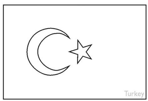 turkey flag coloring page coloring book