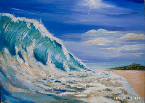 acrylic painting waves acrylic wave painting tropical landscape s
