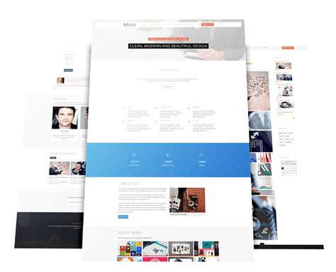 one page joomla template wt mino