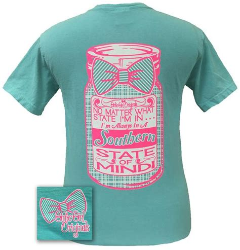 Southern Comfort Colors by Girlie Originals Preppy Southern State Of Mind