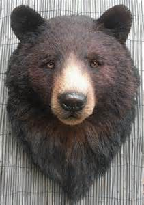 Hand made black bear head by anne andersson art studio custommade