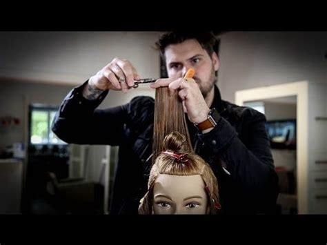cuts by matt beck seamless layered haircut tutorial classic 90 degree