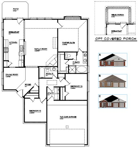 house floor plans with dimensions single floor house plans