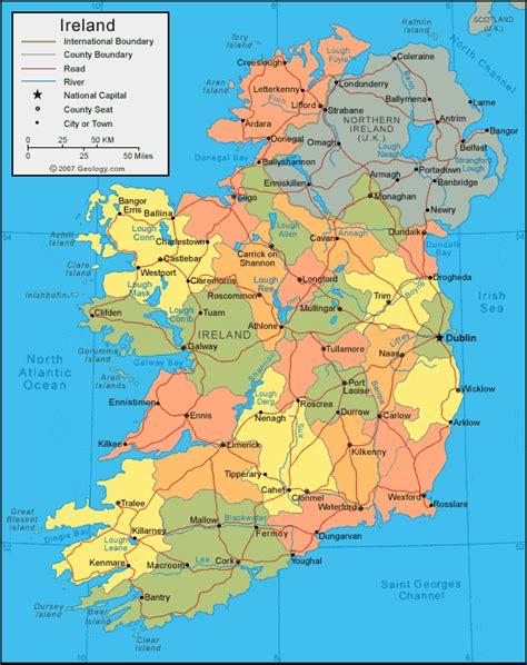 world map with ireland ireland on map souledhere
