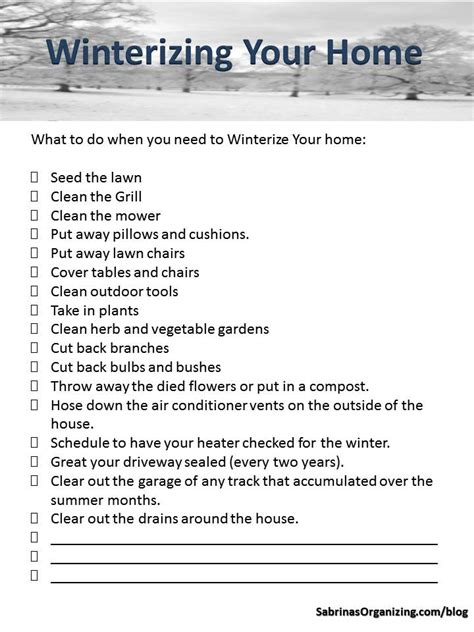 winterizing your home checklist homemd biz