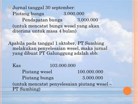membuat jurnal wesel bab ii piutang dagang piutang wesel ppt download