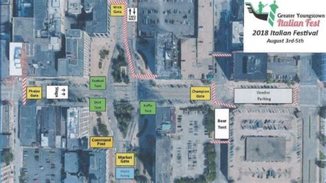 event schedule road closures greater youngstown
