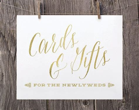 Cards And Gifts Wedding Sign - 5x7 wedding cards and gifts sign gift table sign gold and white wed