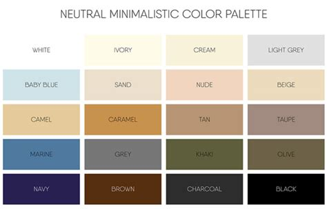 list of neutral colors neautral colors design decoration