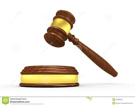 Bench Trial Verdict Gavel Royalty Free Stock Image Image 16608946