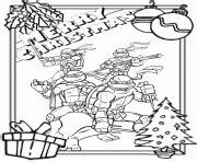 christmas turtle coloring page ninja turtle coloring pages for christmas fun for christmas