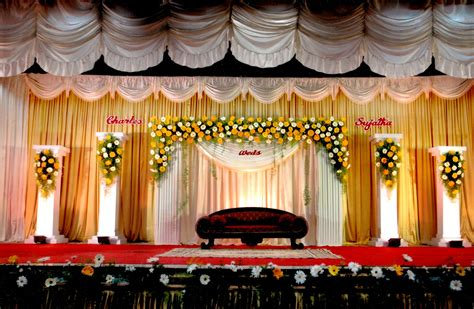 Wedding stage background decoration homemade party design