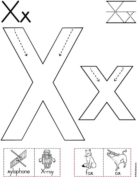 Letter X Coloring Pages Preschool by Alphabet Letter X Worksheet Standard Block Font