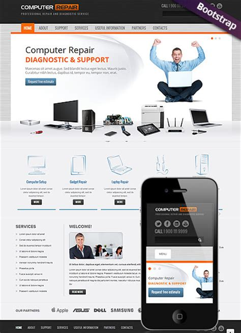 9 Adorable Computer Repair Website Templates Tonytemplates Blog Computer Repair Template