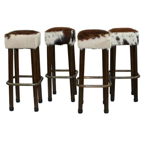 Cowhide Print Bar Stools by 1000 Ideas About Vintage Bar Stools On