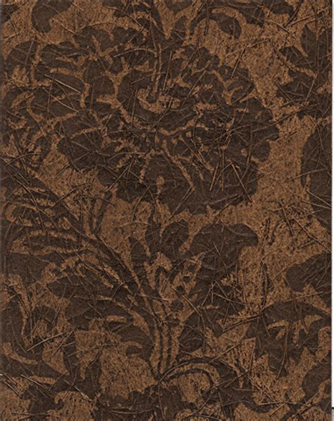 brown rice pattern fami flower rice paper print brown cdm 1001 designer