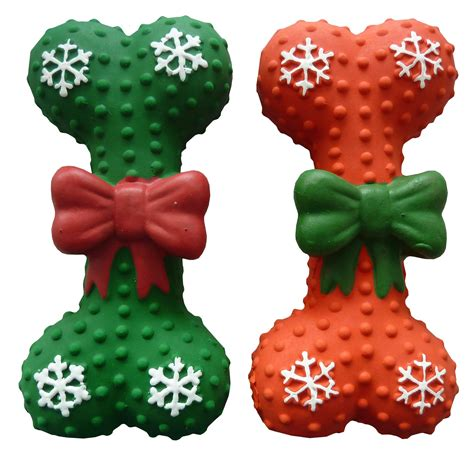 Gift Wrapping Styles - christmas dog toy bone