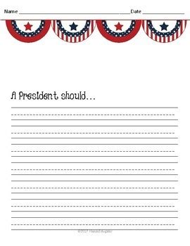 presidents day writing paper presidents day writing paper with writing prompts by