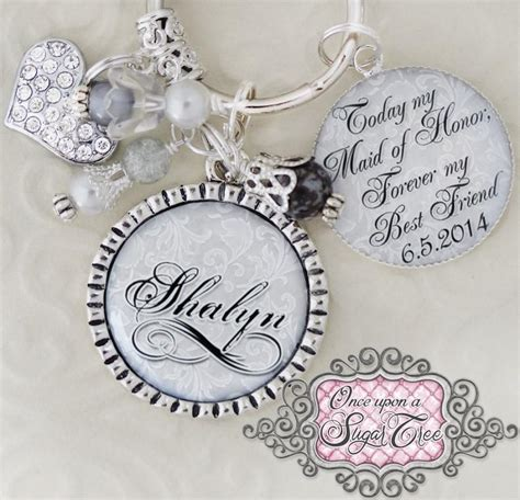 Wedding Quotes Key by Of Honor Gift Wedding Key Chain Or Necklace