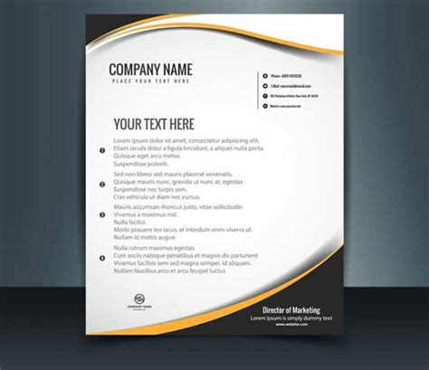 free vector template 25 free letterhead templates available in psd ms word