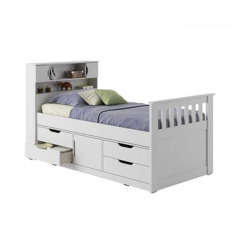 single bed walmart corliving madison collection twin single size snow white