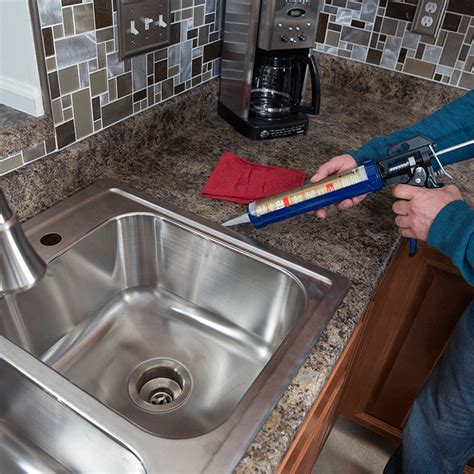 Kitchen Sink Caulk Seal How To Install A Kitchen Sink