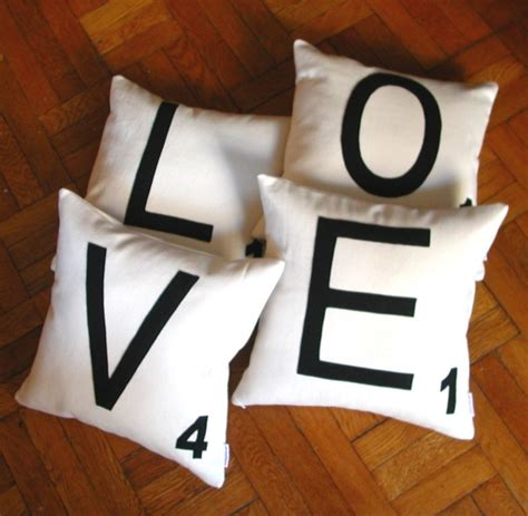 scrabble cushion covers any 4 canvas scrabble letter pillow covers letter cushion
