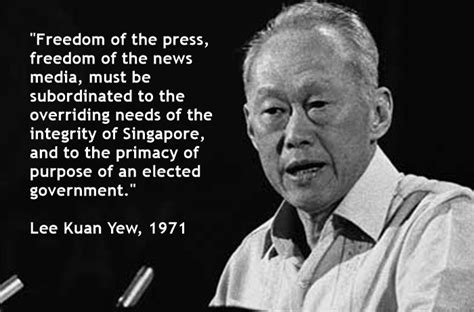 Lee Kuan Yew Meme - quotes about freedom of speech with limitations image