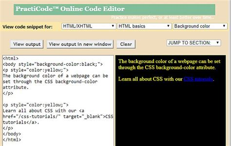 tutorial website coding 8 best websites for quality html coding exles