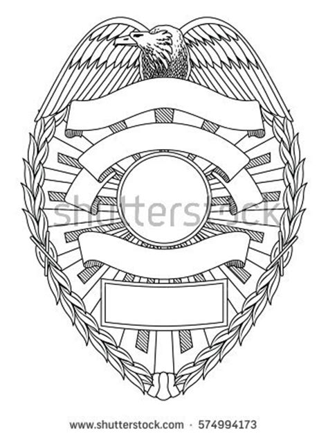 nypd police badge coloring pages sketch coloring page