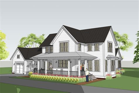 Farm Home Plans Modern Farmhouse With Floor Master Withrow Farmhouse Farmhouse Modern