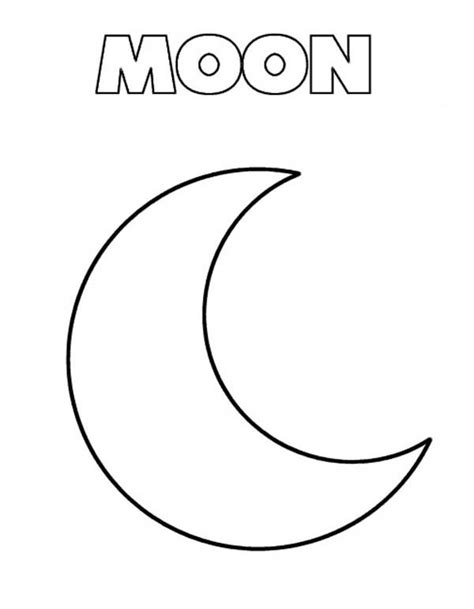 free coloring pages of m is for moon