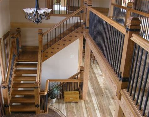 Interior Design Kitchener by Staircases Douglas Fir Rustic Wrought Iron Spindles