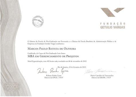 Diploma De Mba by Eu Sou O Mba Da Fgv Demorou Consegui Projeto