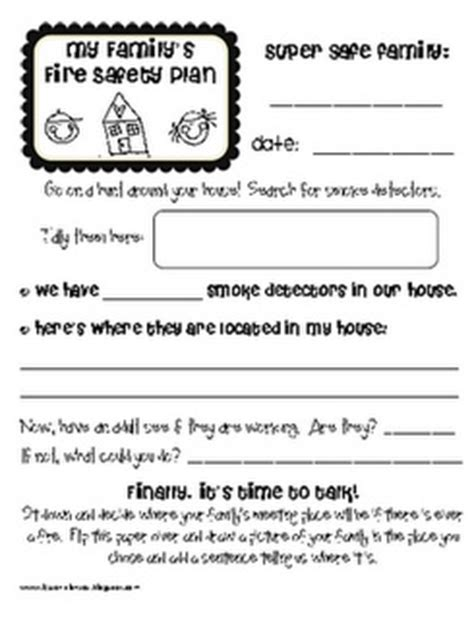 84 Best Images About Fire Safety Kids On Pinterest Activities Preschool Printables And Children S C Safety Plan Template