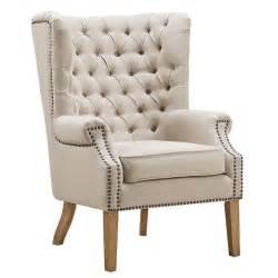 oatmeal linen wingback chair oatmeal linen tufted oatmeal wing back chair