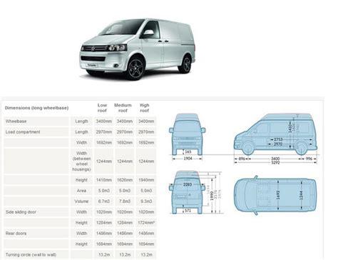 volkswagen caravelle dimensions recommended innolift model for vw transporter t5 van