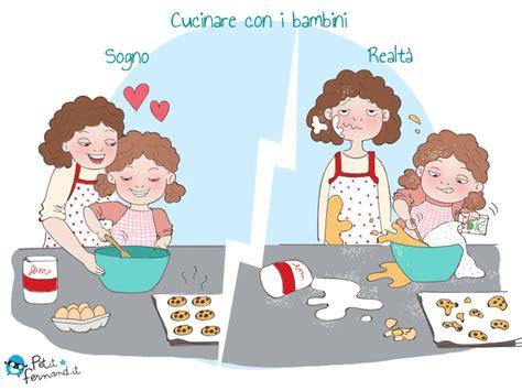 cucinare con i bambini vignetta umoristica cucinare con i bambini