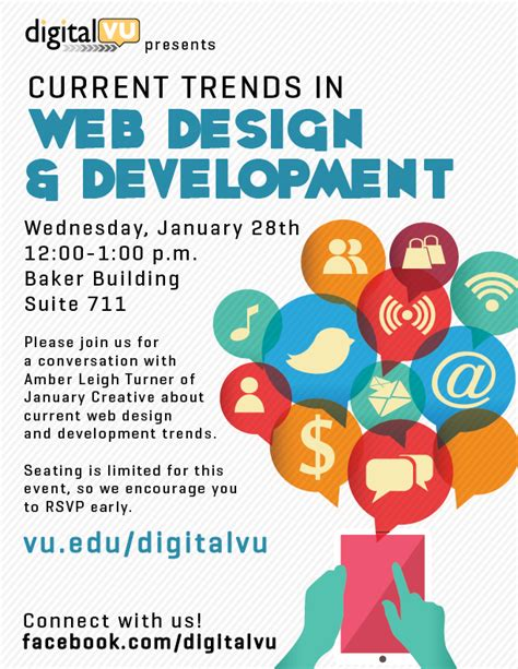 design poster website digitalvu hosts current trends in web design and