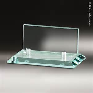 desk business card holder desk gift glass business card holder engraved award