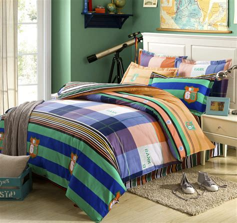 colorful queen comforter sets colorful stripe lattice bed sheet 4pcs full queen bedding