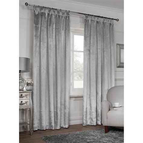 m m curtains versailles crushed velvet fully lined curtains 46 x 54