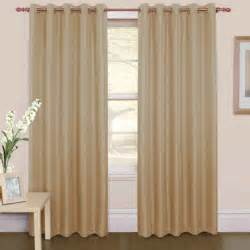 Arched Curtain Rods Furniture Beige Grommet Top Curtain With Brown Wooden