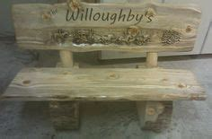 cedar log bench for the bus stop for the home pinterest ideas for back yard on pinterest log benches creeping phlox and ornamental grasses