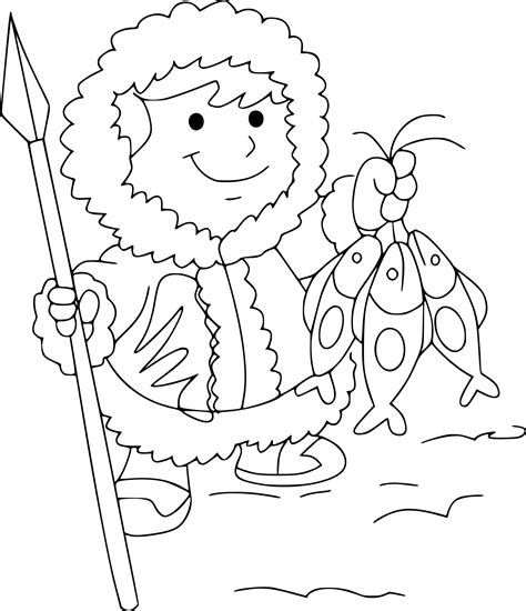 in an coloring book with relaxing and beautiful coloring pages books coloriage esquimau 224 imprimer sur coloriages info