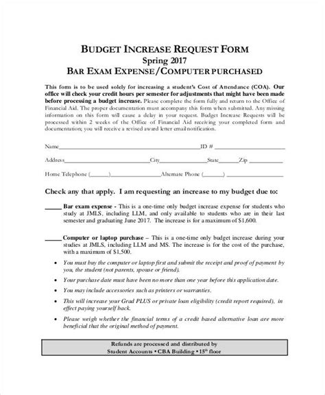 format html request 9 sle budget request form free sle exle