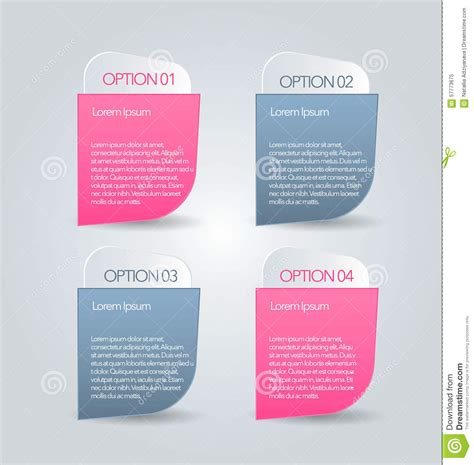 business infographics tabs template for presentation