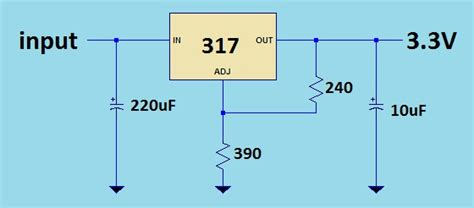 lm317 capacitor calculator power a micrcontroller using a 12 volt battery electrical engineering stack exchange