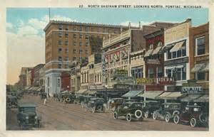 Downtown Pontiac Postcard Of Downtown Pontiac